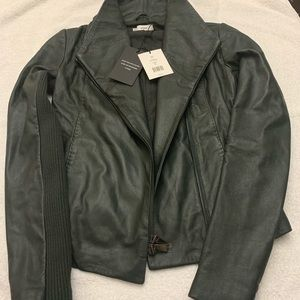 Brand new leather jacket by Vince...